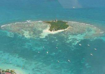 Vue aérienne de l'Ilet Gosier, Guadeloupe