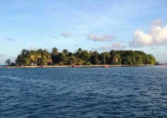 Arrivée à l'Ilet Gosier, Guadeloupe