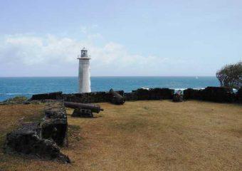 Vue sur la pointe de Vieux-Fort et son phare, Guadeloupe