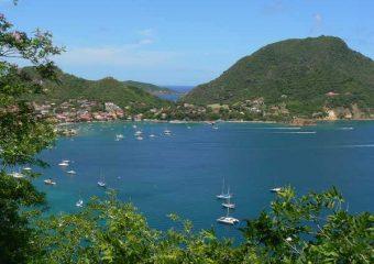 Vue sur l'archipel depuis le Fort Napoléon, Les Saintes