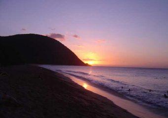 Couché de soleil à Grande Anse, Deshaies