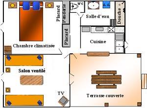 Le plan des gîtes Lamatéliane à Sainte-Marie