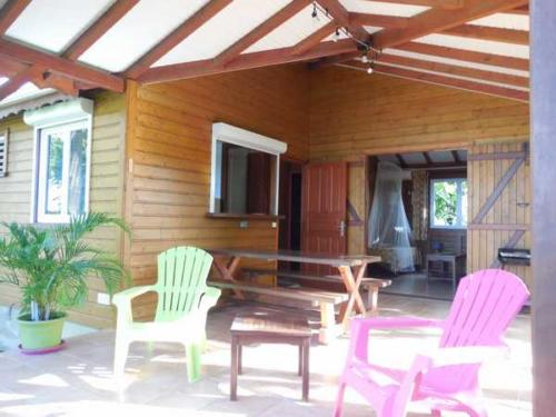 The terrace of your bungalow in Guadeloupe