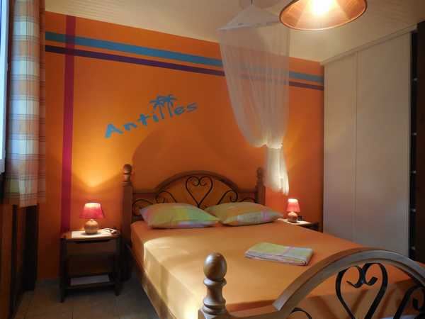 The Creole charm in the bedrooms of the Lamateliane rentals
