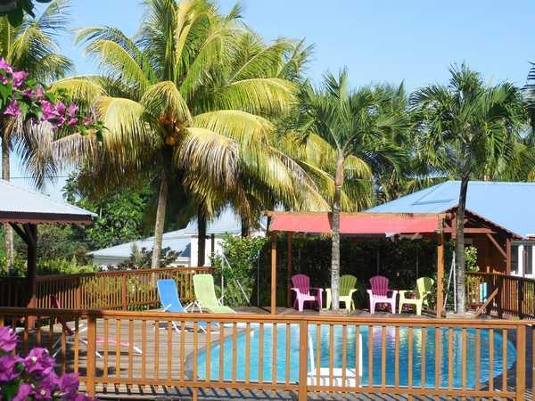 The 50 sqm swimming pool and 90 sqm deck in Lamateliane