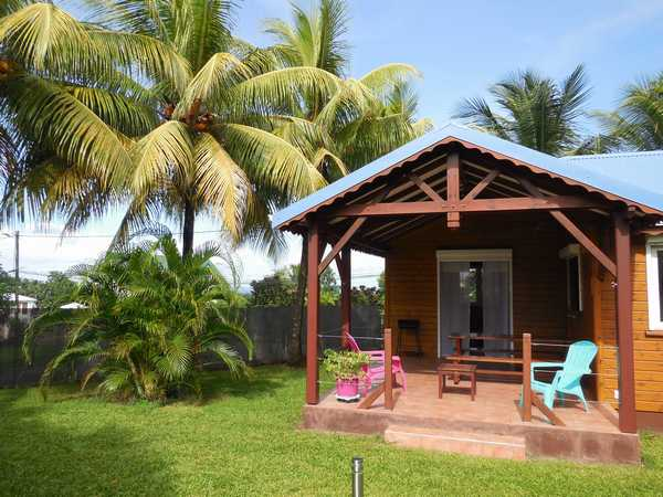 The furnished terrace of your holiday rental in Guadeloupe